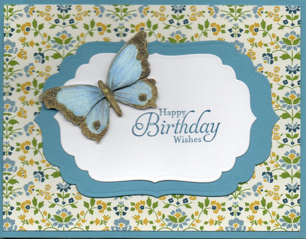 Card sample Birthday Butterfly
